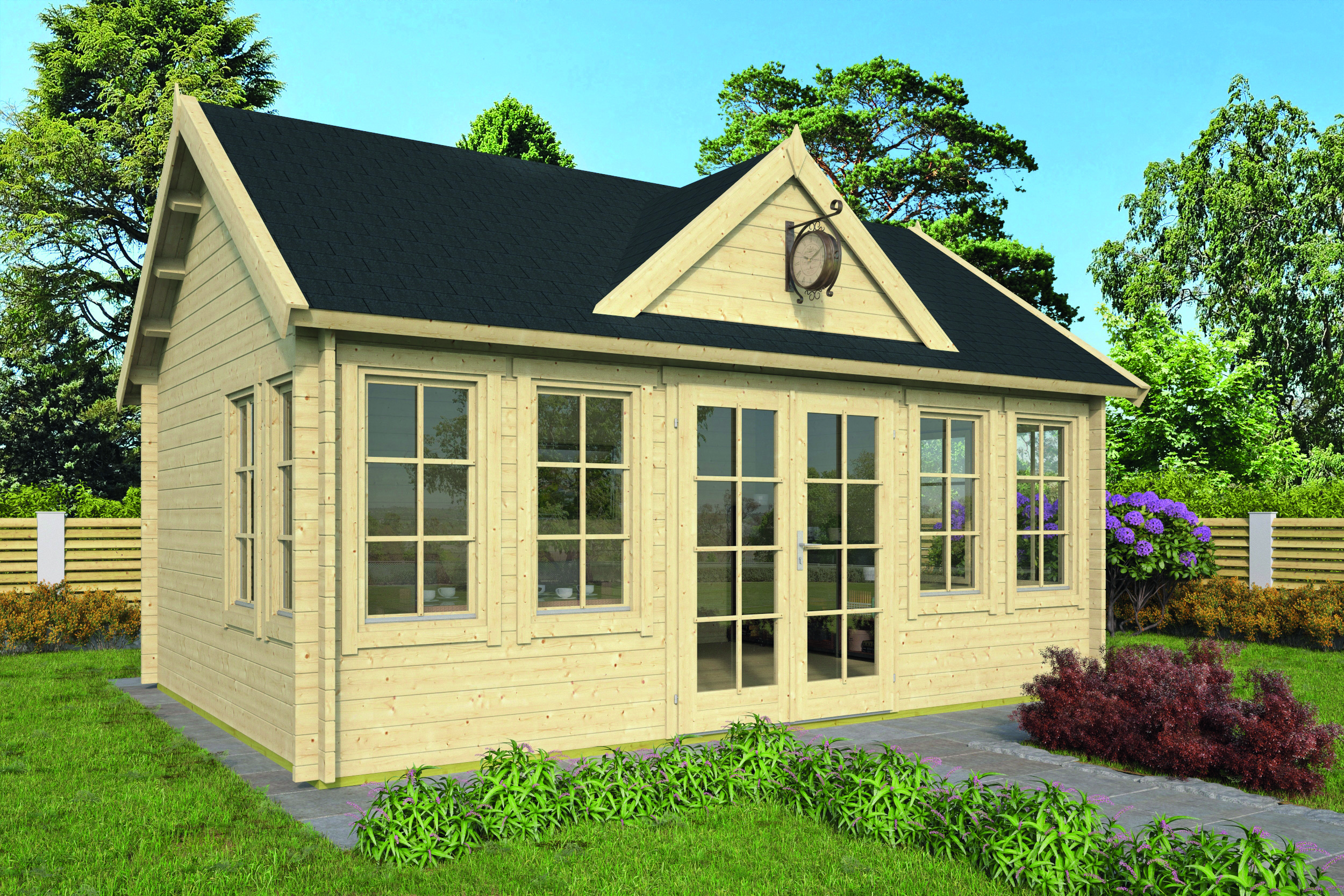 Clockhouse – Log Cabin /Garden Shed