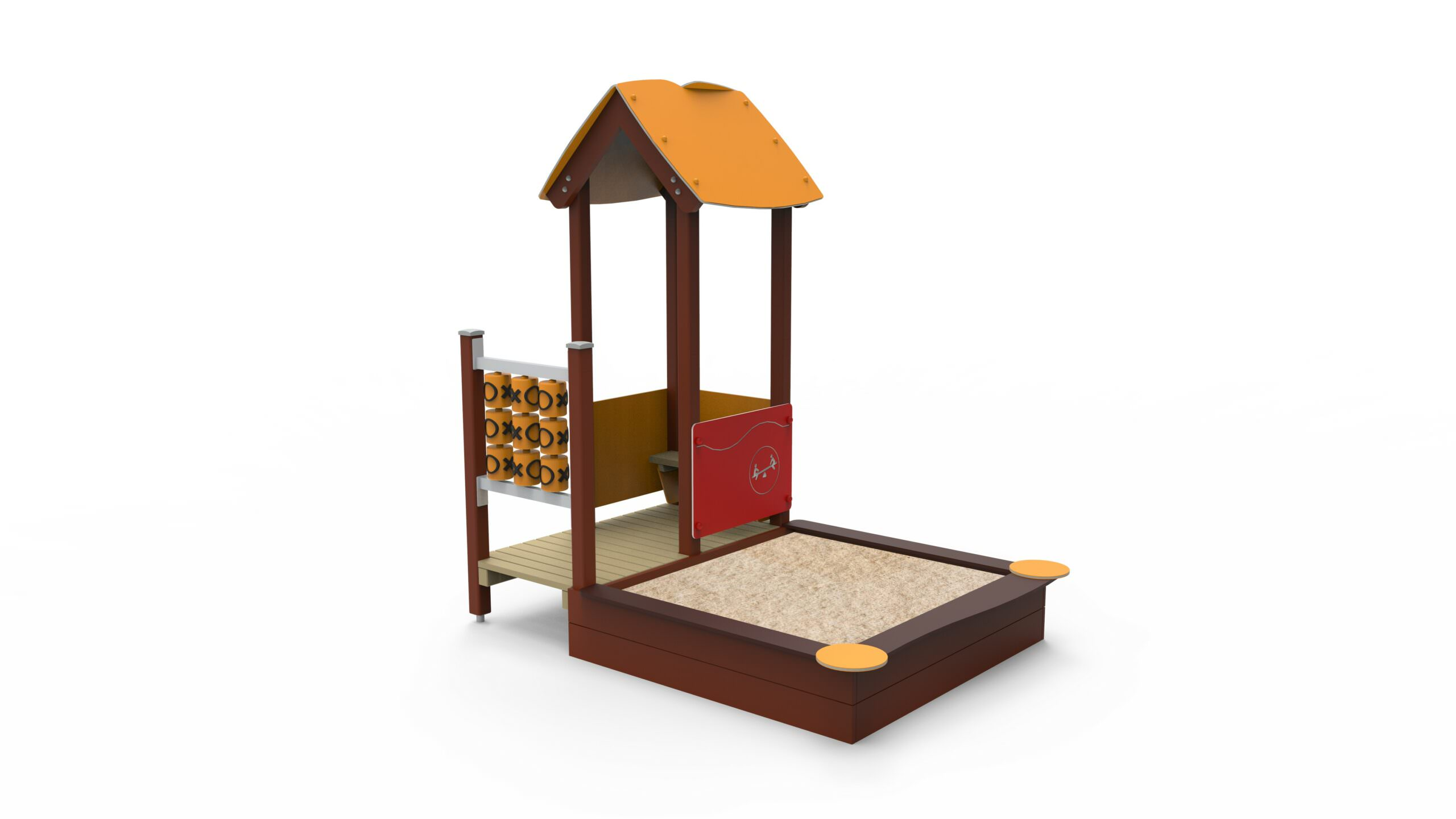 House With Sandbox Plywood