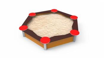 Hexagonal Small Sandbox 1,2 M