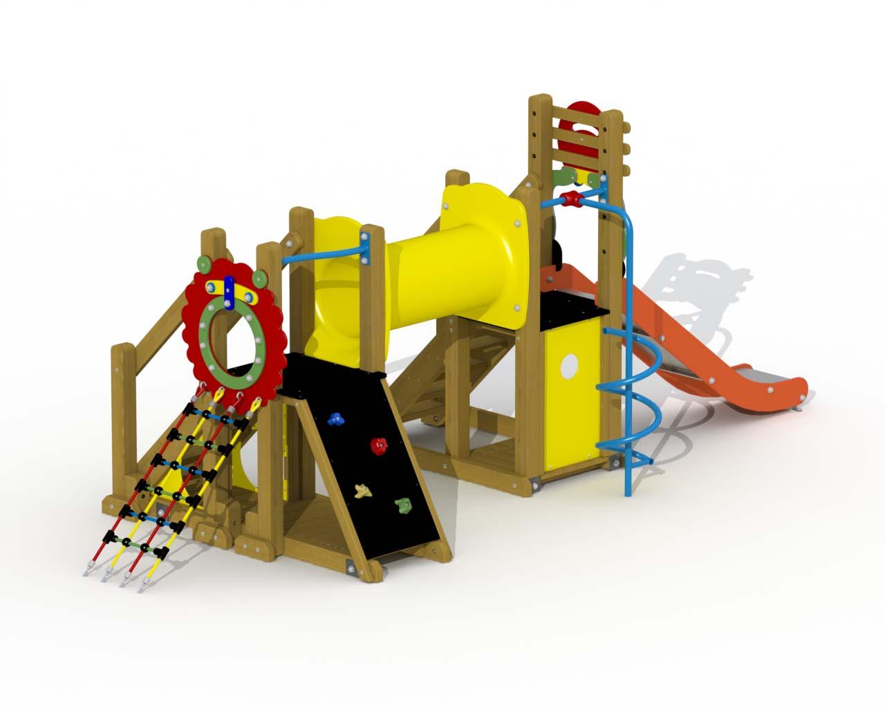 Mammoth (stainless Steel Slide, Crawl Tunnel, Spiral Fireman's Pole)