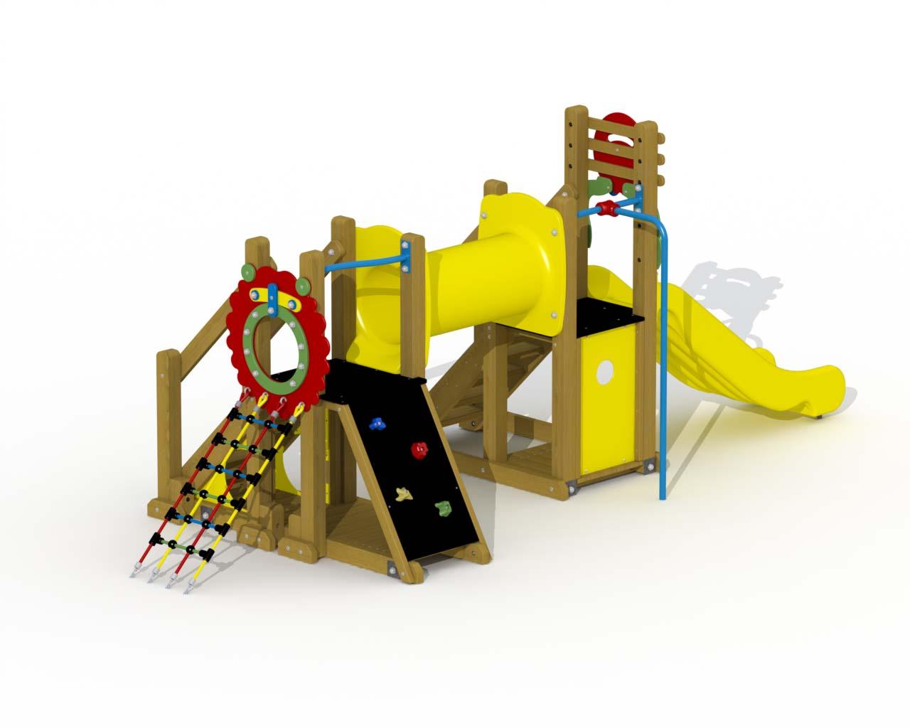 Mammoth (polymer Slide, Crawl Tunnel, Straight Fireman's Pole)