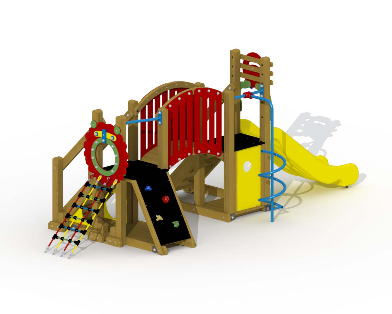 Mammoth (polymer Slide, Arched Bridge, Spiral Fireman's Pole)
