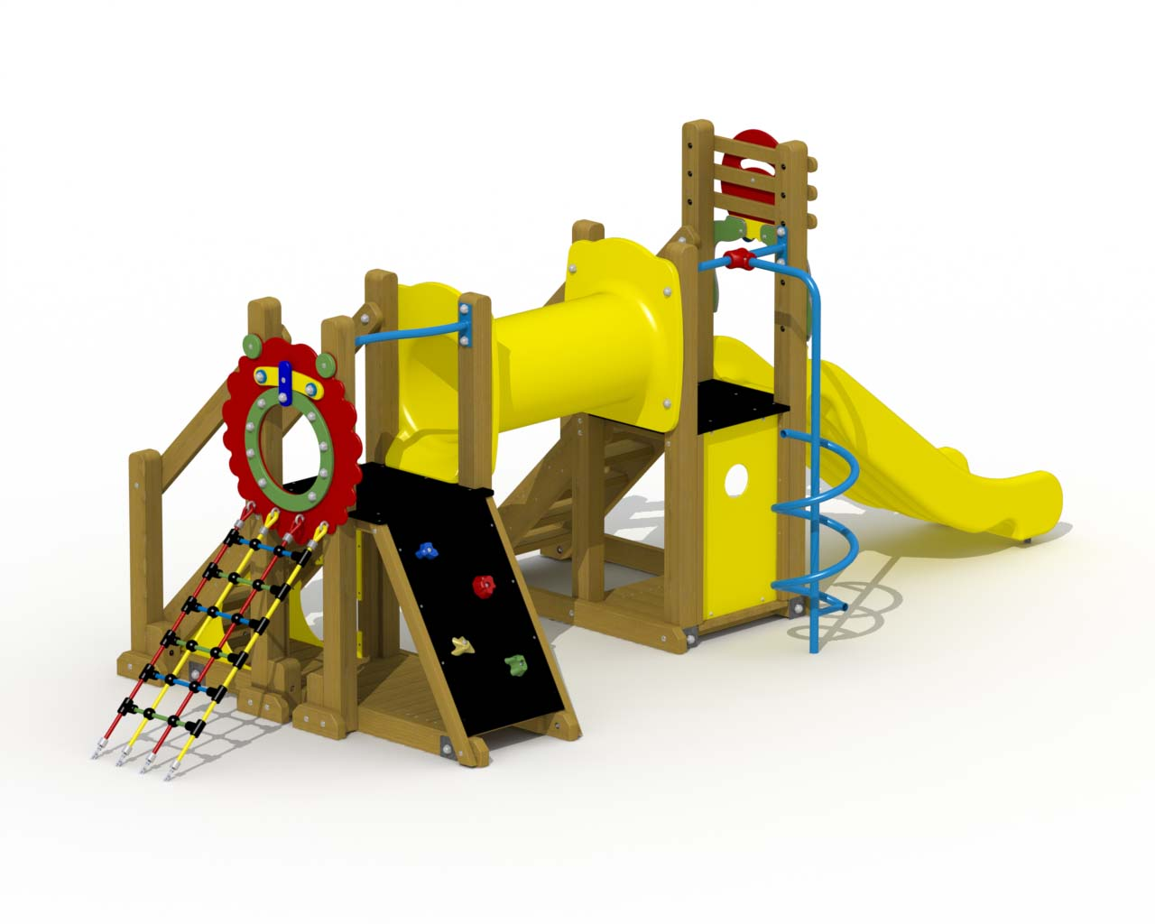 Mammoth (polymer Slide, Crawl Tunnel, Spiral Fireman's Pole)