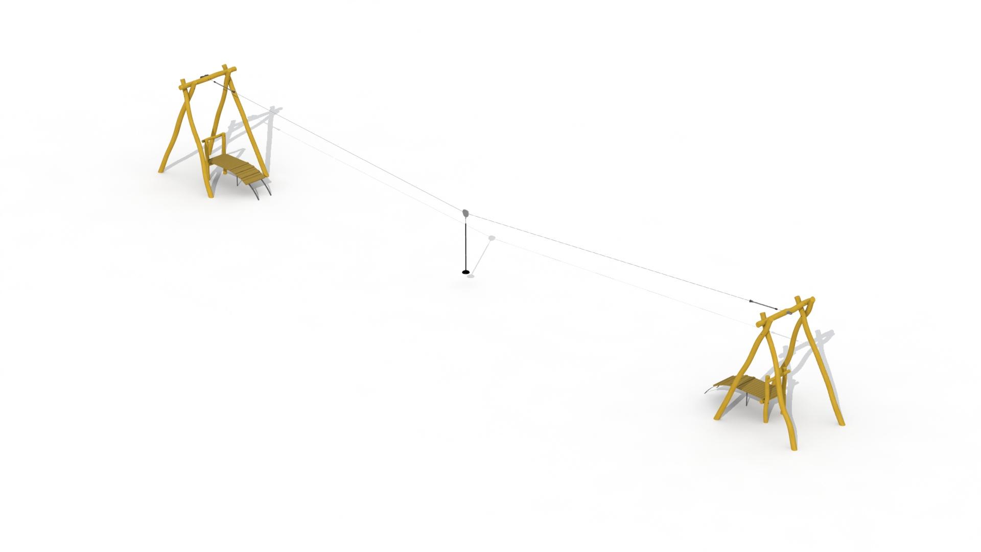 Aerial Runway In Robinia (2 Platforms)