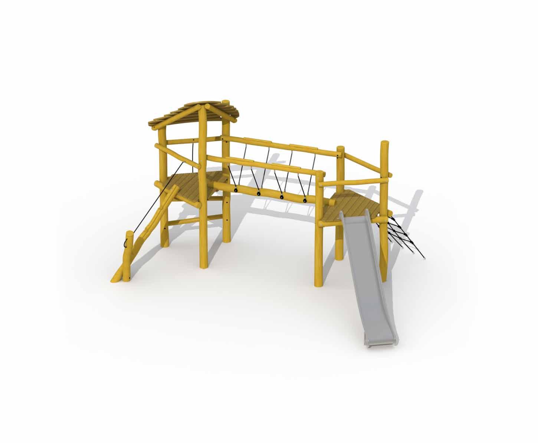 Beetle Bridge In Robinia (stainless Steel Slide)