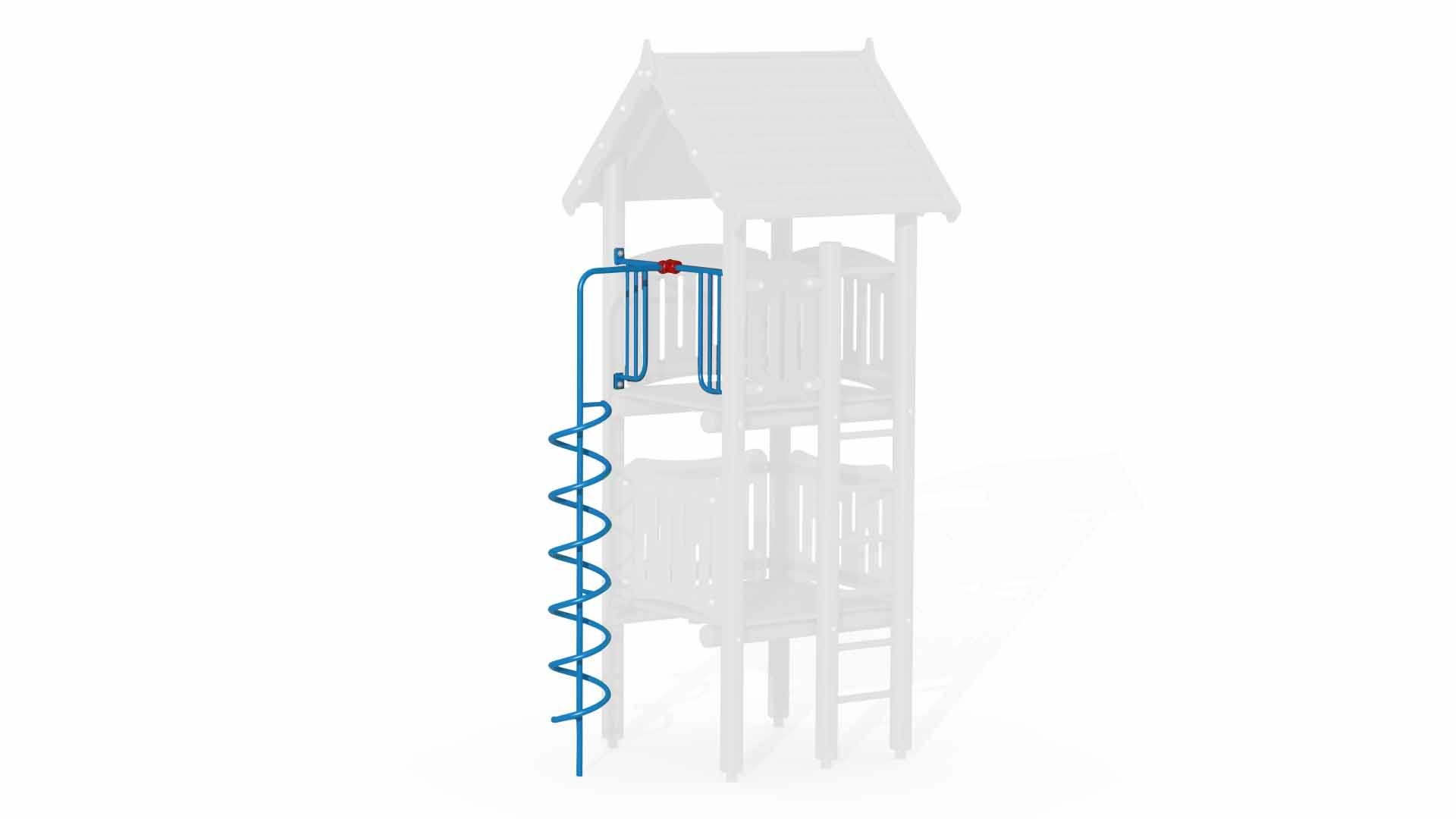 High Spiral Fireman's Pole