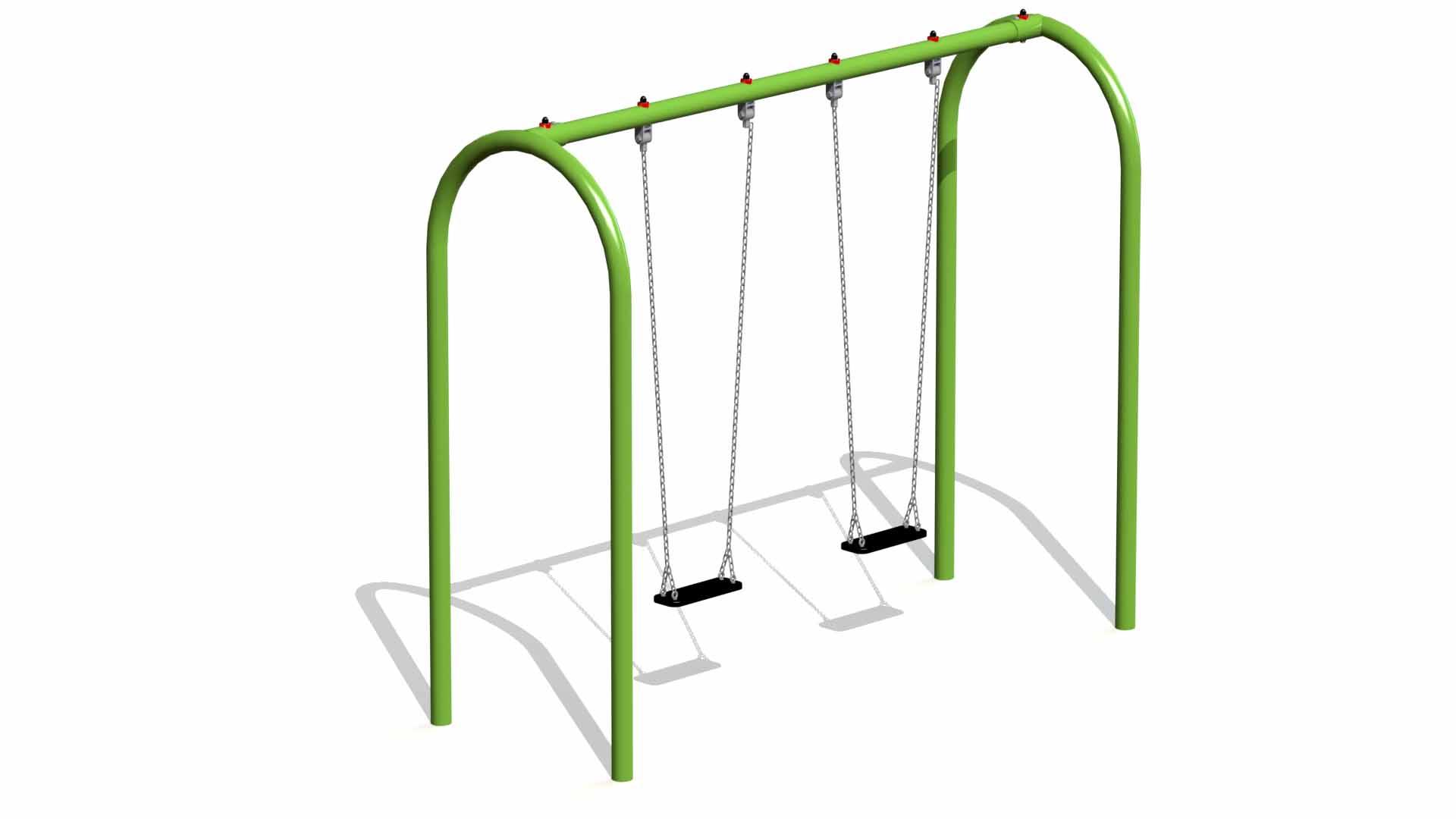Metal Swing (2 Flat Rubber Seats)