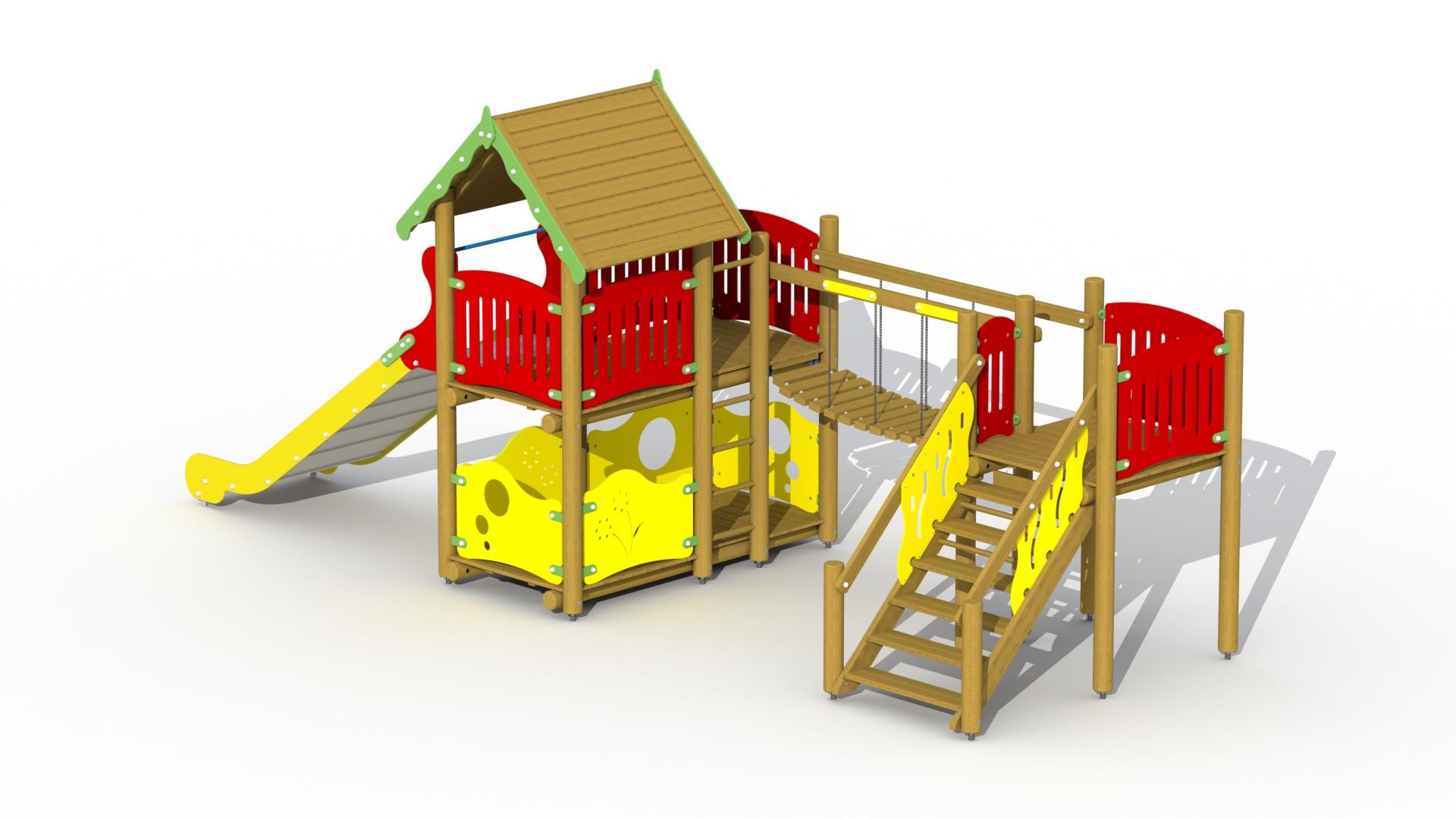 Fortress (stainless Steel Slide 1 M, Footbridge)