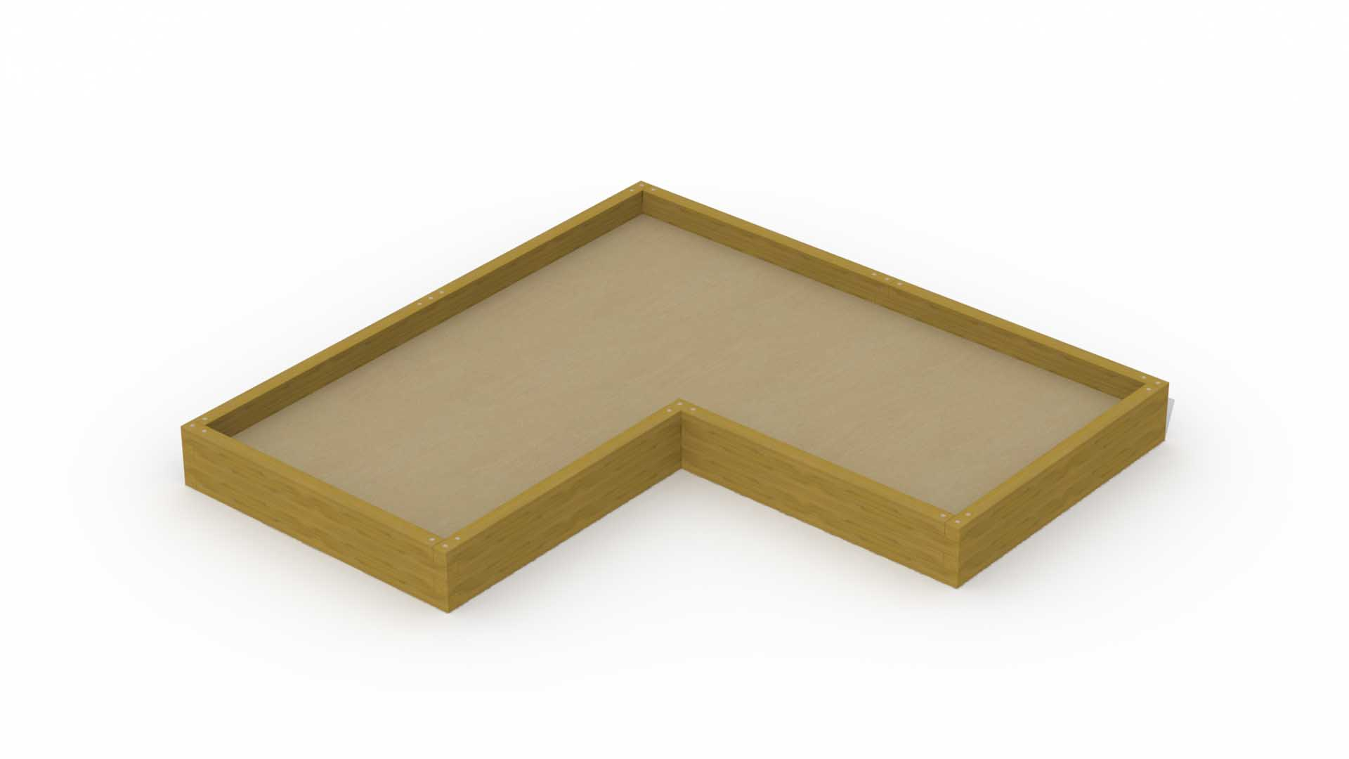 Beam Sandbox (3,8 X 1,8 M) (L-shaped)